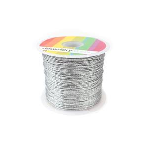 Silver Sparkle Nylon Thread, Approx 0.9mm (30m)