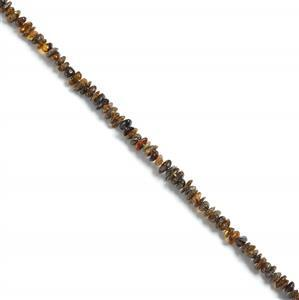 Baltic Earthy Amber Chips Approx 2x5mm to 4x11mm, 38cm Strand
