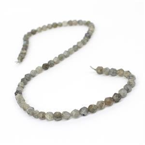 70cts Labradorite Diamond Cut Rounds Approx 6mm, 38cm