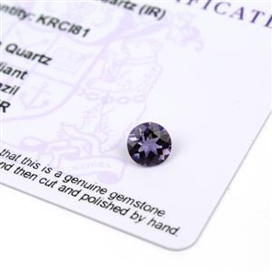 0.85ct Montezuma Blue Quartz 7mm Round (I)