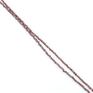 Morning Show Special! 2x 10cts Natural Red Garnet Micro Faceted Rounds Approx 2mm