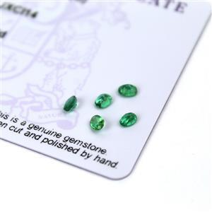 0.55cts Zambian Emerald 4x3mm Oval Pack of 5 (O)