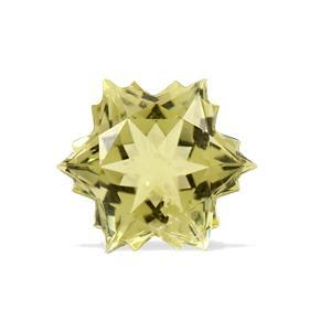 3.8cts Green Gold Quartz 10x10mm Snowflake  (I)