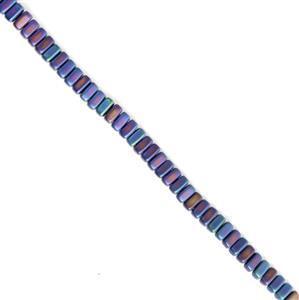 Czechmates Brick - Matte Iris Blue Approx 3x6mm (50pcs)