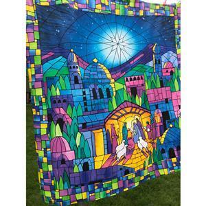 O Holy Night Nativity Fabric Bundle: Panel (91 x 112cm), Fabric (0.5m)