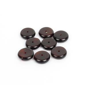 Baltic Cherry Amber Disc Beads (8pk)