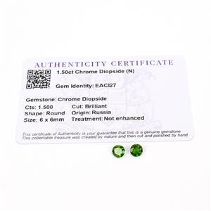 1.5cts Chrome Diopside 6mm Round Pack of 2 (N)