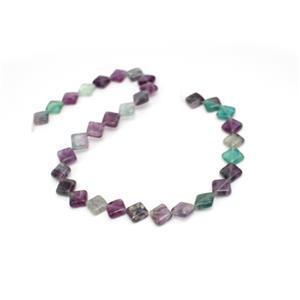 197cts Multi-colour Fluorite Diamond Approx 10mm, 38cm Loose Strands