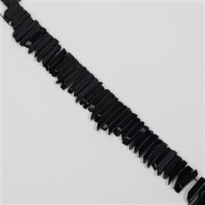 420cts Black Obsidian Graduated Stick Approx 6x19 to 7x40mm, 38cm