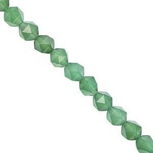 95cts Green Onyx Faceted Star Cut Approx 7 to 7.50mm, 28cm Strand