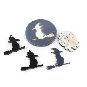 Enchanted Witch Acrylic Kit: Witch, Cats On Broomsticks & Handbag Mirror (4pcs)