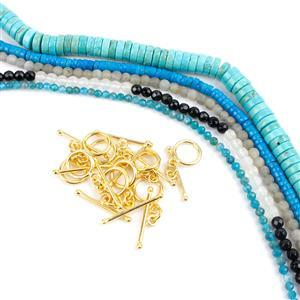 It'll be Ite on the Night Blue Bundle; 5 Strands & Toggle Clasp