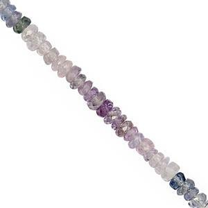 15cts Multi-Colour Sapphire Faceted Rondelle Approx 2.5x1.5 to 3x1.5mm, 20cm Strand
