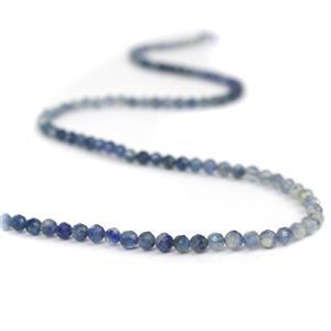 35cts Kyanite Ombree Faceted Rounds Approx 3.5mm, 38cm Strand
