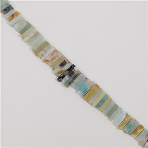 600cts Amazonite Graduated Stick Approx 5x14 to 5x35mm, 38cm
