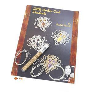 Little Amber Cognac Owls Kit & Booklet by Rachel Norris