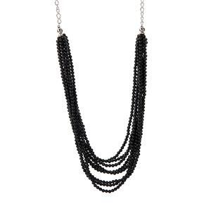 172.15ct Black Spinel Sterling Silver Necklace