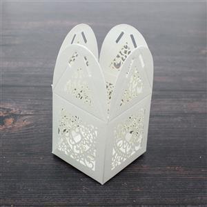 White Filigree Heart 50x50x80mm 5pk