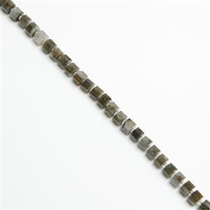 220cts Labradorite Faceted Cushions Approx 9x6mm, 38cm