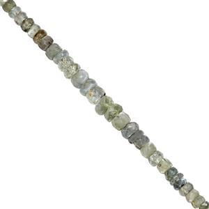 8cts Alexandrite Graduated Faceted Rondelles Approx 2x1 to 4.50x3mm, 20cm Strand with Spacers
