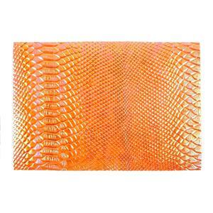 Synthetic-Leather Tangerine AB 7x10.5in