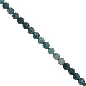 22cts Grandidierite Micro Faceted Round Approx 3mm, 30cm Strand