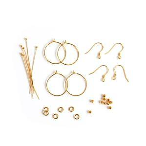 Gold Plated 925 Sterling Silver Earring Findings Pack 26pc