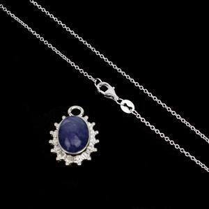 Tanzanite Temptation! 925 Sterling Silver Gemset Pendant Inc. 5cts Tanzanite with Chain