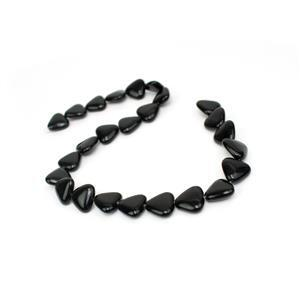 230cts Black Obsidian Fancy Triangle Approx 16mm, 38cm Strand