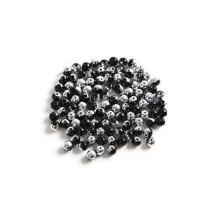 Czech RounDuo Beads, 5mm - Jet Labrador (100pcs)