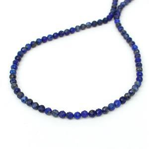 40cts Lapis Lazuli Faceted Rounds Appox 4mm, 38cm Strand