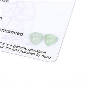 2cts Aquaprase 7x7mm Triangle Pack of 2 (N)