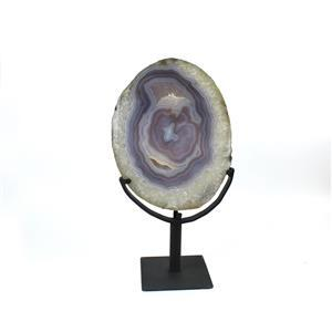 Large Agate slice on stand