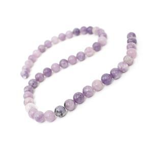 180cts Lepidolite Plain Rounds Approx 8.5mm, 38cm Strand