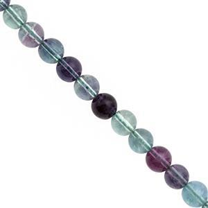 110cts Mongolian Flourite Smooth Round Approx 8mm, 20cm Strand