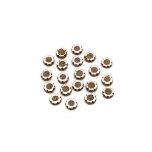 Precisoa Ornela Chalk White Gold Table Cut Hawaiian Flower Beads, 14mm (20pk)
