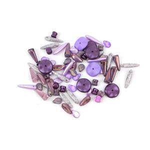 Preciosa Ornela Trade Mark Bead Mix - Violet (20g)
