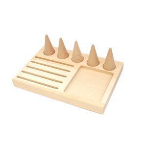 Wooden Jewellery Display Tray, 22x15x2.2cm (1pc)
