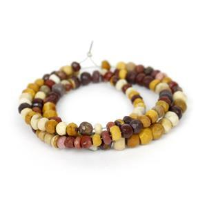 50cts Mookite Faceted Rondelle Approx 3-5mm, 33cm Strand