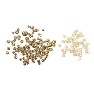 Christmas Sparkle Swarovski Inc Swarovski Hot Fix Mixed Bag Golden Shadow  100pk