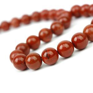 300cts Red Jasper Plain Rounds Approx 10mm, 38cm Strand