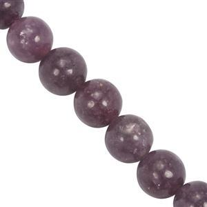 142cts Lepidolite Smooth Round Approx 9.8 to 10mm, 19cm Strand