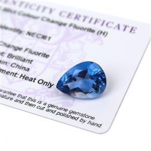 11.6cts Colour Change Fluorite 18x13mm Pear  (H)
