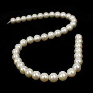 Close Out Deal! White Freshwater Cultured Pearl Near Rounds Approx 9-10mm, 38cm strand