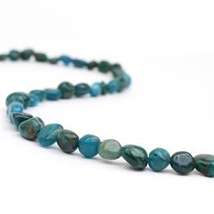 100cts Apatite Small Tumbled Stones Approx 5x6-7x10mm, 38cm strand