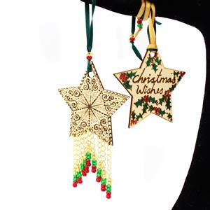 Its Beginning To Look A Lot Like Christmas Inc BRAND NEW Wooden Bauble & Star Shapes