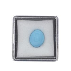 2.80cts Sleeping Beauty Turquoise Cabochon Oval Approx 11x9mm Loose Gemstone (1pc)