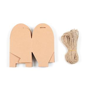 Natural Kraft Gift Box's With String Approx 8x7.5x4.5cm 12pk