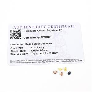 0.75cts Multi-Colour Sapphire 4x3mm Oval Pack of 5 (H)