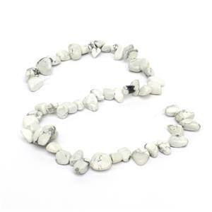 210cts White Howlite Fancy Nuggets Approx 6x8 - 10x14mm, 38cm Strand